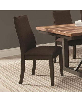 BM168088 Upholstered Wooden Dining Side Chair - benzara