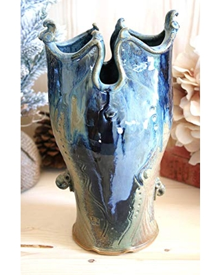 Ceramic Vase to Stoneware Vase V #42 Wheel Thrown and Altered Clay Vase Home Decor - wildfire clay