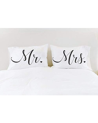 Mr Mrs Pillowcases Couples Pillow Cases Pillows Gift for Couple Bridal Shower Gift for Newlyweds - define design 11