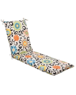 Outdoor Indoor Pom Play Lagoon Chaise Lounge Cushion 1 Count - pillow perfect
