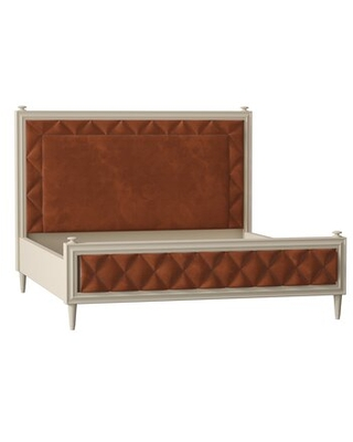 Solid Wood and Upholstered Low Profile Platform Bed - caracole classic