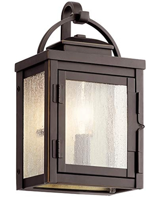 Carlson 1 Light Outdoor Wall Light with Clear Seeded Glass - kichler