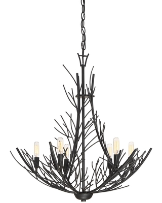 Thornhill 26 Inch 6 Light Chandelier Thornhill THL5006MK Rustic - quoizel
