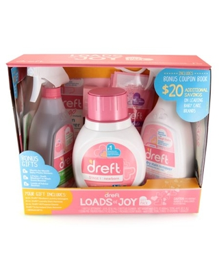 Loads of Joy Gift Pack Laundry Set with Baby Laundry Detergent and Stain Removers - dreft