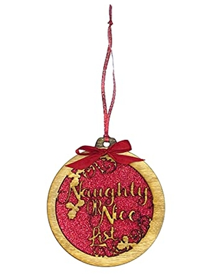 Naughty or Nice Christmas Ornaments - undefined