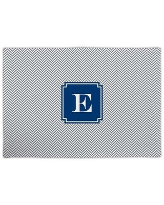 """Alcott Hill® Privett Single Initial Fabric 18"""" Cotton Placemat Cotton in Gray, Size 18.0 W x 14.0 D in   Wayfair WFFP10-SI-W-j"""