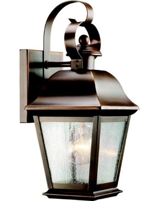 Mount Vernon 1 Light Outdoor Wall Light with Clear Seeded Glass in Olde Bronze - kichler