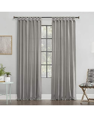 Washed 100% Cotton Twist Tab Curtain Panel 56537 - archaeo