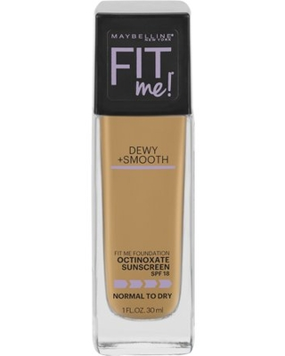 Fit Me Dewy + Smooth Liquid Foundation Makeup with SPF 18 Soft - maybelline