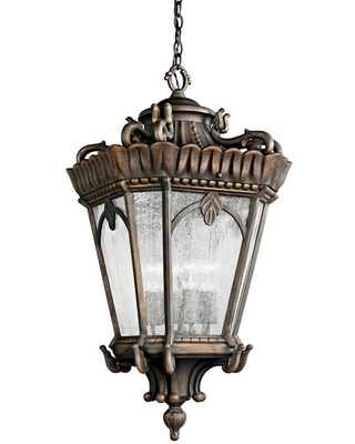 Tournai Londonderry Traditional Seeded Glass Lantern Large Larger Than 22 in Pendant Light 9564LD - kichler