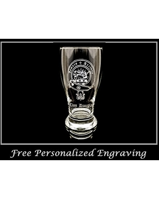 Clan Douglas Scottish Crest Pint Glass Free Personalized Engraving Family Crest Pub Glass Beer Glass Custom Beer Glass - lyoncraft