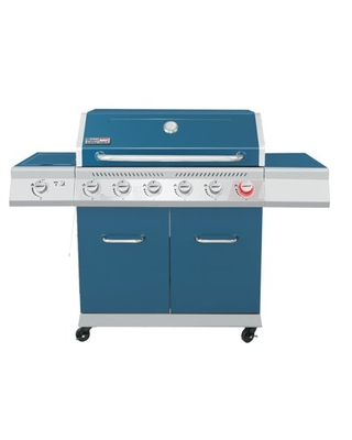 GA6402B 6 Burner BBQ Liquid Gas Grill with Sear Burner and Side Burner 74 000 BTU Cabinet Style Grill for Outdoor Camping and Backyard Cooking - royal gourmet