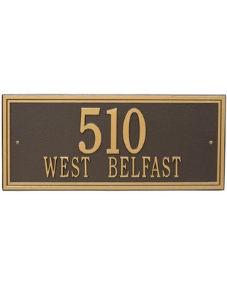 Personalized Double Line 2 Line Estate Wall Plaque - whitehall products