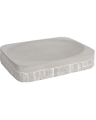 Avalon Bath Accessory Collection Concrete Bathroom Soap Dish - sweet home collection
