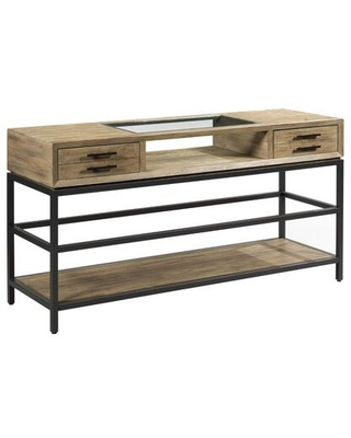 Jefferson Collection 976 925 SOFA TABLE in Natural Waxed and Dark - hammary