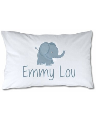 Personalized Elephant Pillow Case - 4 wooden shoes
