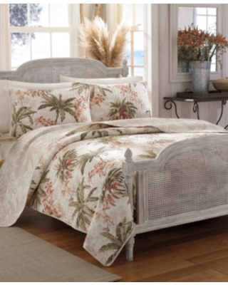 Tommy Bahama Bonny Cove Reversible 3 Piece King Quilt Set Bedding - tommy bahama home