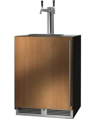 HC24TB 4 2L 2 C Series Indoor Beer Dispenser with 2 cu ft Capacity RAPIDcool Forced air System Stainless Steel Faucet Dual Tap and Left - perlick