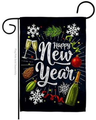 Winter New Year Garden Flag Wintertime 13 X18.5 Inches Double-Sided Decorative House Decoration Yard Banner
