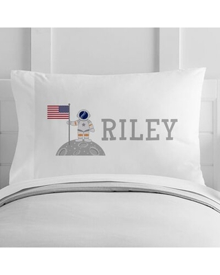 Personalized Astronaut Toddler Pillow Case - 4 wooden shoes