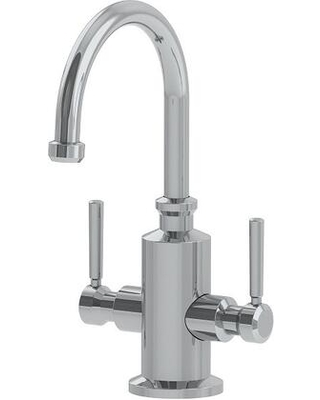 Absinthe Collection LB15280 5 GPM Deck Mounted Little Butler Hot and Cold Water Dispenser Faucet in Satin - franke