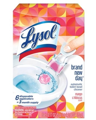 Automatic Toilet Bowl CleanerClick Gel 6ct Brand New Day Mango & Hibiscus - lysol