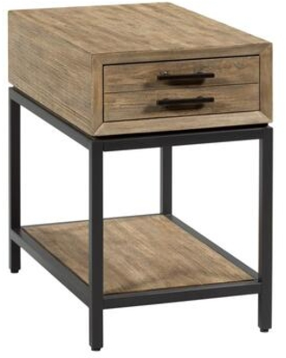 Jefferson Collection 976 915 RECTANGULAR DRAWER END in Natural Waxed and Dark - hammary