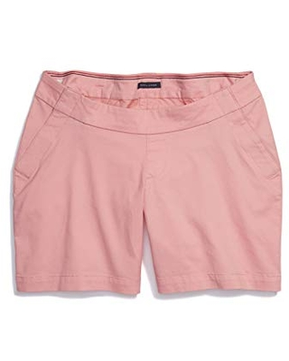 Women's Stretch Shorts Seated Fit with Velcro Brand Closure and Magnetic Fly - tommy hilfiger
