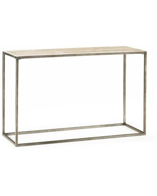 Modern Basics Collection 190 925 SOFA TABLE in Natural Travertine and Textured - hammary