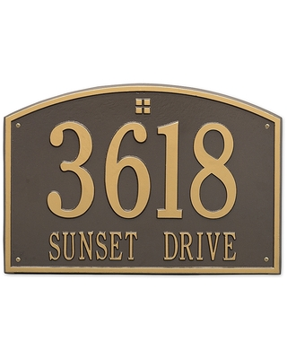 2 Line Personalized Address Wall In Bronze - whitehall products