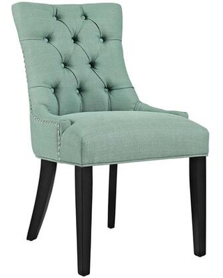 Regent Collection EEI 2223 LAG Dining Chair with Rubberwood Tapered Legs Nailhead Trim Non Marking Foot Caps Solid Wood Frame and Polyester - modway