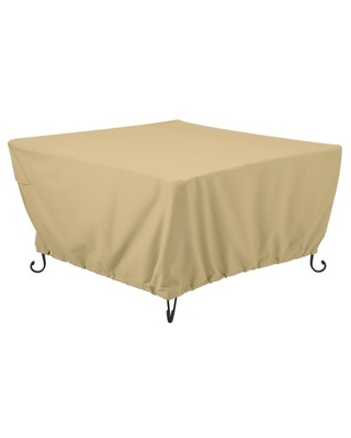 Terrazzo Water Resistant 52 Inch Square Fire Pit Table Cover - classic accessories