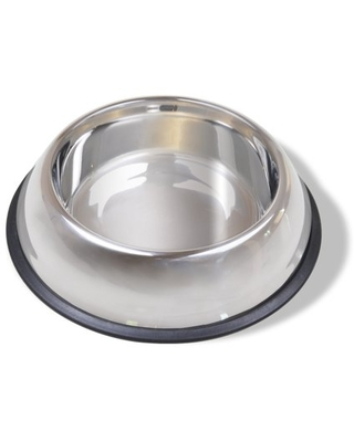 Van Ness No Tip Large Stainless Steel Dog Bowl with Non Skid Rubber Base 64 Fluid Ounce Capacity - van ness plastic