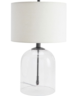 Aria Dome Table Lamp with Small Straight Sided Gallery Shade Bronze - undefined