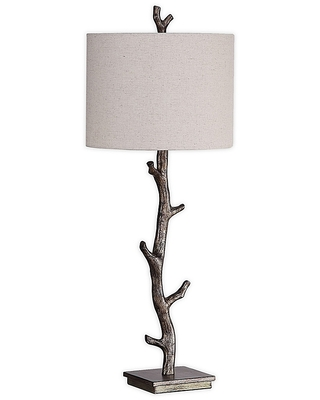 Allingham Table Lamp With Off Linen Drum Shade - uttermost