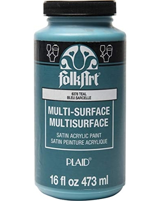Multi Surface Satin Acrylic Paint in Assorted Colors - folkart