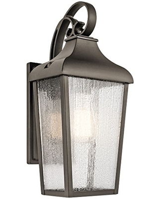 Forestdale 1 Light Outdoor Wall Light with Clear Seeded Glass in Olde Bronze - kichler