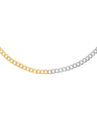 Two Tone Flat Curb Chain Necklace at Nordstrom - adina's jewels