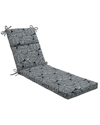 Outdoor Indoor Talia Noir Chaise Lounge Cushion - pillow perfect