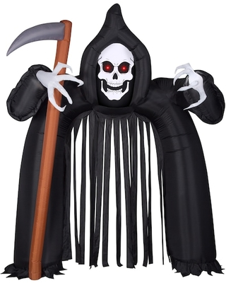 9Ft Airblown(r) Inflatable Halloween Archway Reaper with Eyes By Michaels(r) - gemmy industries