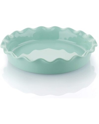 Porcelain Pie Pan Round Pie Plate Baking Dish With Ruffled Edge 5 Inches - hou