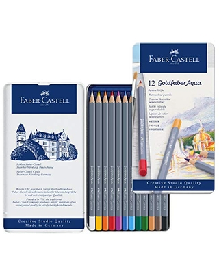 Creative Studio Goldfaber Watercolor Pencils Tin of 12 Colors - faber-castell