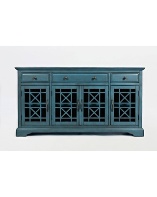 Craftsmen Series Transitional Style 3 Drawer Wooden TV Stand for TVs up to - benzara