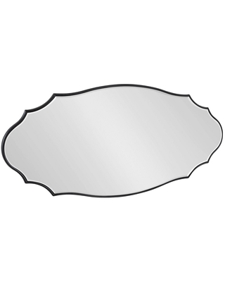 Leanna Scalloped Oval Decorative Wall Mirror - kate & laurel all things decor