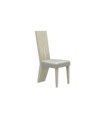BM194709 Wooden Dining Side Chairs with Leather Upholstered Seats Two - benzara