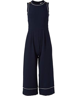Women's Sleeveless Cropped Jumpsuit with Piping - eliza j