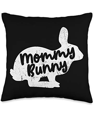 Sunday Mommy Bunny Easter Egg Hunt Lovers Throw Pillow 16x16 - easter bunny merch co