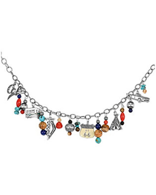 Sterling Route 66 Charm Ne cklace - american west