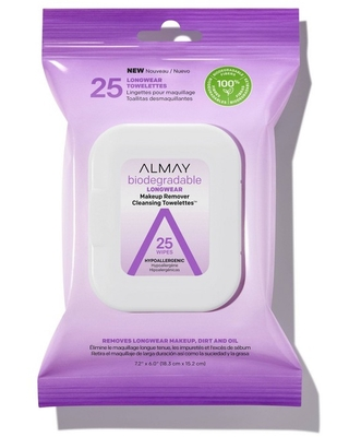 Biodegradable Longwear Makeup Remover Cleansing Towelettes 25ct - almay