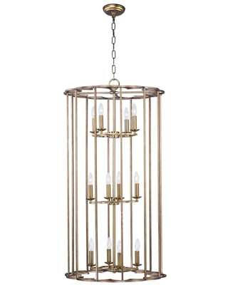 Helix Bronze Fusion Rustic Cylinder Large Larger Than 22 in Pendant Light 24738BZF - maxim lighting